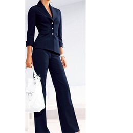 purple business suit Australia - Women's suits suit Female suit dress Notch Lapel Women's Business Office Tuxedos Jacket+Pants Ladies Suit Custom Made sizes and colors