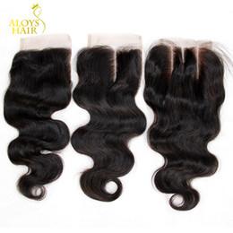 "$enCountryForm.capitalKeyWord Canada - Free Middle 3 Part Brazilian Body Wave Lace Closure Grade 6A Virgin Brazilian Human Hair Closure Cheap Lace Top Closures Size 4""x4"""