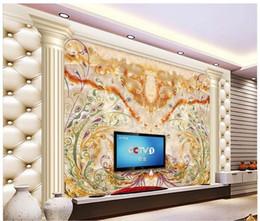 $enCountryForm.capitalKeyWord Canada - 3d wallpaper TV background wallpaper the living room sofa backdrop mural Phoenix pillars leather mural wallpaper 201515033