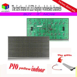 Semi outdoor led diSplay online shopping - P10 Semi outdoor single yellow LED display module mm high res and high quality for message led sign