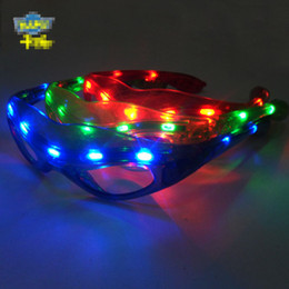 Discount festival light toys - Free EMS LED Light Spider-Man Glasses Flashing super hero LED Flash Glasses Party Supplies Festival Decoration Christmas