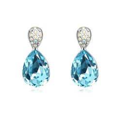 Edging Earrings Canada - Austrian crystal earrings earrings Korea Bifoliqi edge upscale Korean factory direct wholesale jewelry in Europe and America