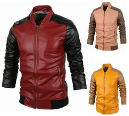 Mens Yellow Leather Zipper Jacket Online | Mens Yellow Leather ...
