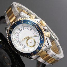 Mens digital bracelet watches online shopping - reloj hombre New tag mens watches top brand luxury Designer watch men automatic day date gold wristwatches bracelet quartz clock