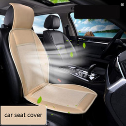 seat cooling cushion pad Canada - 12V Cool Fan Car Seat Covers Universal Fit SUV sedans Chair Pad Cushion with Motor driving square summer ventilation