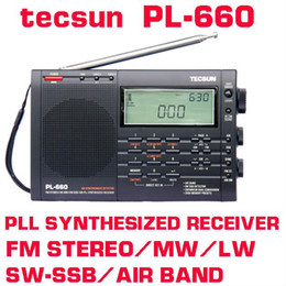 Sw Pack Australia - Wholesale-5pcs lot Free Shipping Tecsun pl-660 FM radhio Stereo LW MV SW-SSB AIR PLL SYNTHESIZED PL660 Radio