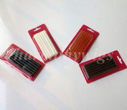 Wholesale Melt glue sticks 7mmx100mm for hair extensions Fusion keratin glue sticks Keratin grain 4colors 12pcs lot