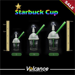 StarbuckS water pipe oil rig online shopping - Water Pipes Bong Bubbler For mm mm mm Male Starbucks Cup Oil Rigs Glass Bongs Glass Water Pipes Recycler