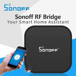 Wholesale Sonoff RF Bridge WiFi MHz Replacement Smart Home Automation Universal Switch Intelligent Domotica Wi Fi RF Remote Controller OTH723