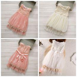 63d1555e060 Rose lace dRess baby online shopping - princess dress girls sleeveless lace dress  girl tutu dress