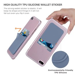 Self adheSive card holder online shopping - Ultra slim Self Adhesive Credit Card Wallet Card Set Card Holder Colorful Silicon For Smartphones For iPhone X S Sumsung S8