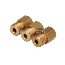 China With Tracking Number 5pcs lot 3D Printer Nozzle Mixed Sizes 0.2mm 0.3mm 0.4mm Extruder Print Head For 1.75MM MK8 Makerbot suppliers