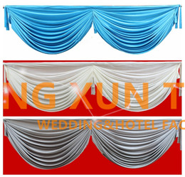 Wholesale 3M Long Ice Silk Swag Drape Only Can Fir Table Skirt Backdrop Curtain And Other Wedding Decoration