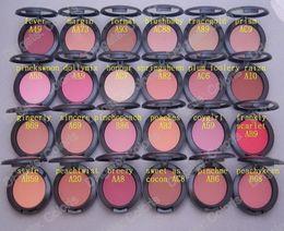 Vente en gros Maquillage Shimmer Blush Sheer Tone Blush 24 Couleurs Différentes Pas De Miroirs Pas De Brosse 6g Mini Commande 24Pcs