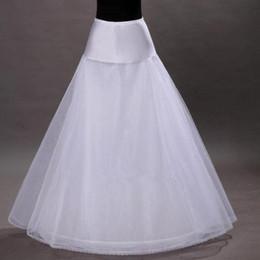 Großhandel Freies Verschiffen auf Lager 1-hoop 2-Schicht Tüll Aline Petticoat Braut Hochzeit Petticoat Unterrock Crinolines für Hochzeitskleid CPA202