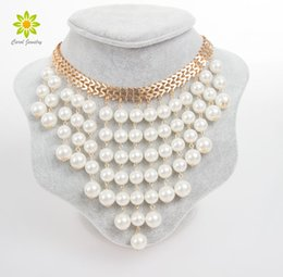 day collars for women 2021 - New Arrival High Quality Statement Necklace Collar Clear Crystal Pearl Necklaces & Pendants Fashion Necklaces For Women