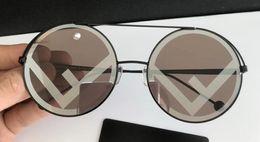 Chinese  Women Round Gold Sunglasses 0258 S Designer Sunglasses New with Box manufacturers