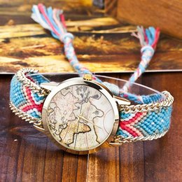 World map fabric suppliers best world map fabric manufacturers 2017 the world map pattern women rope bracelet watch fashion design dress weave wool bands quartz wrist watch lady style watches world map fabric for sale gumiabroncs Choice Image