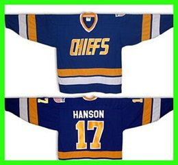 $enCountryForm.capitalKeyWord Canada - Hanson #17 Home jersey 16 18 Jeff Hanson White Slapshot brothers Charlestown CHIEFS - Customized Jersey Any Number Any Name Sewn On (S-4XL)