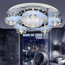 Modern Brief Led Crystal Ceiling Lamp Romantic Bedroom Dinning Room Lighting Living Room Balcony Corridor Lights Chandelier Ceiling Light