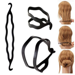 $enCountryForm.capitalKeyWord Canada - Magic Hair Pony Tail Maker Plastic Hair Styling Bun Maker Shaper Braid Holder Clip Twist Tool Hair Twist Styling Clip 3000pcs