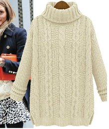 oversized christmas sweaters 2019 - 2016 Hot Wool Knitted Women Sweaters And Pullovers Oversized Cashmere Sweater Women Winter Christmas Jumpers Turtleneck