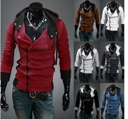 Barato Hoodie De Veludo-2016 NEW Assassin's Creed Desmond Style <b>Velour Hoodie</b>