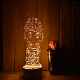 2018 mood led light Home Decor Acrylic 3D Light LED Modern Living Table Light Mini USB Mood Lamp Bedroom, Hand Induction, Dimmable, Color Ch