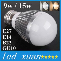 China Factory Diectly Sale Led Bubble Ball Bulb Globe Bulb GU10 B22 E14 9w 15w AC 85-265V Led Globe Bulb Lamp Lights Free Shipping suppliers