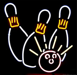 "$enCountryForm.capitalKeyWord UK - Bowling Game Room Shop Handmade Real Glass Tube Neon Sign Display Beer Bar Pub Club Sport Advertising Entertainment Neon Signs 17""X14"""
