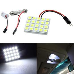 Discount car lights - White 20 5050 SMD LED Light Panel Car Interior Dome Lamp 200lm reading festoon led Bulb DHL free ok360