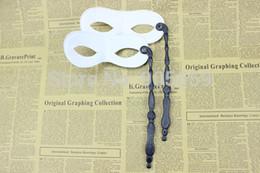 $enCountryForm.capitalKeyWord Australia - Wholesale-(100 pcs lot) Fashion Handheld Masque Party Masks Masquerade Ball Mask Festive & Party Supplies Black Plastic Mask With a
