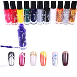 Nail polish bottle designs online nail polish bottle designs for wholesale 1set 12pcs nail art striping brush in bottle 3d drawing paint nails polish pen design french nails for salon professional tool prinsesfo Gallery