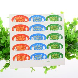 Snowman Stickers NZ - 100pcs Merry christmas snowman seal sticker party decor DIY candy cake box baking package christmas paper tags labels