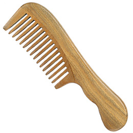 Travel Hair Canada - Hair Comb Wood Large Handle Comb Pocket Brush Handmade Hair Care Styling Tool Massage Anti Static Hairloss Men Women Home Travel Carry Comb