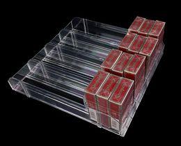 Venta al por mayor de Comercio al por mayor 10 unids Supermercado Cigarrillo caja de exhibición de acrílico divisor de Tabaco Cajón de propulsión automática cajón portavasos estante titular