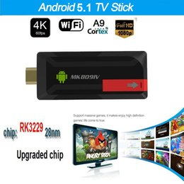 Android Box Tv 16g Canada - Upgrade 4K MK809IV TV Dongle Stick RK3229 Android TV Box Quad Core 2G 16G Mini PC WiFi Android TV Stick Support 4K