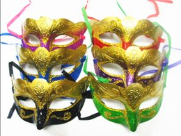 $enCountryForm.capitalKeyWord UK - Party Mask With Gold Glitter Mask Venetian Unisex Sparkle Masquerade Venetian Mask Mardi Gras Masks Halloween 30pcs