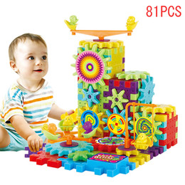$enCountryForm.capitalKeyWord Canada - 81 Pcs Plastic Electric Gears 3D Puzzle Building Kits Bricks Educational Toys For Kids Children Gifts