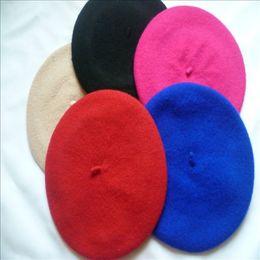 $enCountryForm.capitalKeyWord Canada - Ear Muff Children Caps Hats Fashion Hat Factory Korean Preppy Style Fleece Children Girls Beret Hats Autumn Winter Baby Kids Caps Red Berets