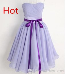 Robe De Soirée Sans Bretelles Pas Cher-En Stock Cheap New Court / Mini hot_sales_dress Sexy bretelles en mousseline de soie Prom / Homecoming Parti Robes de mariée Occasion spéciale Dresses123