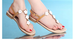 Wedding Shoes White Sandals Canada - Bohemia Style Beach Wedding Shoes Sandals Flatforms Shoes Flower Bridal Party Prom Sumber Beach Casual Shoes