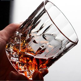 Chinese  Creative Crystal glass Whiskey Glass lead-free thickened liquor cup foreign wine cocktail Diamond Water Cup home manufacturers