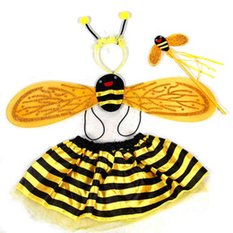 Wholesale movie bees for sale - Group buy Children s costumes props princess dance skirt bee bee costume party supplies a family of four JIA179