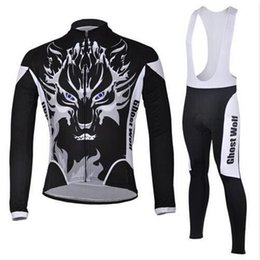 Jerseys Wolf Canada - Ghost Wolf Winter Thermal Fleece Cycling Ropa Ciclismo Invierno Cycling jerseys Super Warm Bicycle Clothing Long GEL Pad Pants