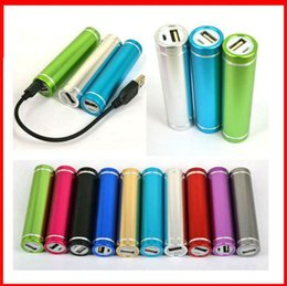 $enCountryForm.capitalKeyWord Canada - Customized LOGO New Portable 2600mAh USB Cell Phone Power Bank External Battery Replacement Backup Charger for iPhone Samsung