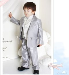 Handsome Kids Suits Australia - Handsome Boys Formal Occasion Suits Kids Birthday Party Suits Prom Business Suits Boy Flower Girl Dress (Jacket+Pants+Vest+Bow Tie)