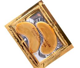 Ventas calientes Crystal Collagen Gold Powder Eye Mask 50packs = 50Pairs = 100pcs / lot