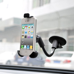 Iphone Center Canada - Car Center Console Windshield Phone Holder Mount For Iphone Samsung Lenovo etc Cell Phones Suction Stand Cradles Support