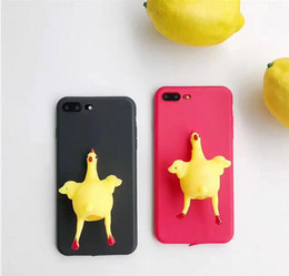 iphone toy case UK - 2017 Gadget Laying Hen Soft Decompression Toy Phone case for iPhone 6 6s DHL